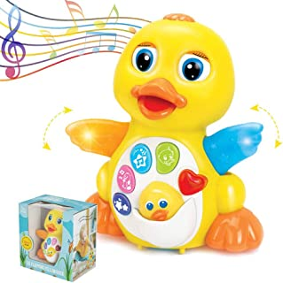 ToyThrill Duck Toy - Musical Baby Toys for 1 Year Old Girl & Boy, Babies, Infant or toddler - Music, Light Up & Dancing Mo...
