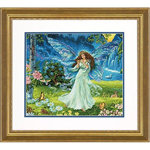 DIMENSIONS Maße Gold Collection Spring Fairy Kreuzstich-Set, Mehrfarbig