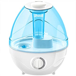 رطوبت ساز LEVOIT برای اتاق خواب ، مرطوب کننده مه ماوراء بنفش اولتراسونیک 2.4L برای نوزادان (BPA رایگان) ، رطوبت هوا برای اتاق بزرگ ، عملکرد آرام و زمزمه شده ، خاموش کردن خودکار و چراغ شب ، حداکثر 24 ساعت طول می کشد