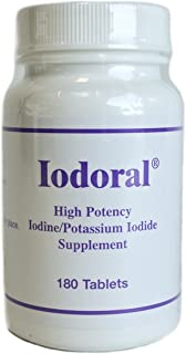 Optimox - Iodoral 高カリウム ヨウ素/ヨウ化を補う - 180錠剤