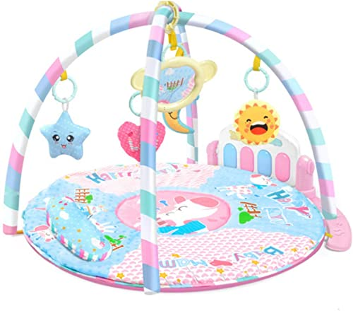 XLLLL Baby Größe Spielmatte Fitness Rahmen Infant Lernspielzeug Musik Gym Pedal Klaviertastatur Krabbeln Decke