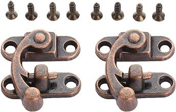 2 stuks Antiek Ijzer Padlock Klink Spoeltje Buckle Horn Catch gesp Haak Lock for Mini Jewelry Box for meubels Hardware 29...