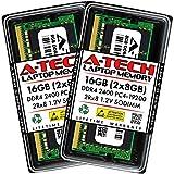 A-Tech 16GB (2x8GB) DDR4 2400MHz SODIMM PC4-19200 2Rx8 Dual Rank 260-Pin CL17 1.2V Non-ECC Unbuffered Notebook Laptop RAM Memory Upgrade Kit