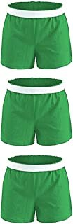 Soffe Girls' Authentic Cheer Short, Kelly Green, Large (3-Pack)