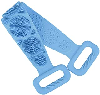 Silicone Bath Body Brush, 70cm Length Exfoliating Silicone Body Back Scrubber Belt for Men Women, Easy to Clean, Lathers Well, Eco Friendly