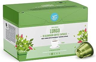 comprar comparacion Marca Amazon - Happy Belly Lungo Café UTZ molido de tueste natural en cápsulas de aluminio compatibles con Nespresso, 120 ...