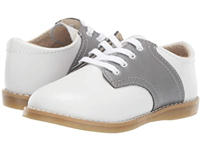 FootMates Cheer 3 (Infant/Toddler/Little Kid) (White/Gray) Kids Shoes