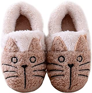Women/Kids Family Cute Cat Warm House Slippers Booties