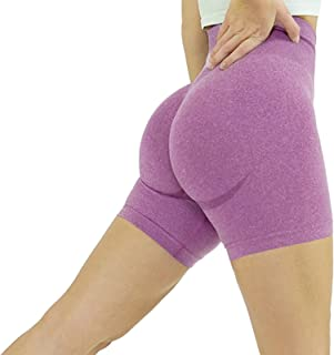 Jetjoy bbmee High Waisted Workout Shorts Seamless Biker Shorts for Women Yoga Gym Shorts Tummy Control