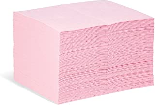 """New Pig Hazmat Mat Pad, Absorbs Hazardous Materials, Heavyweight, 28-Ounce Absorbency, 20"""" x 15"""", (100 Pads), MAT301"""