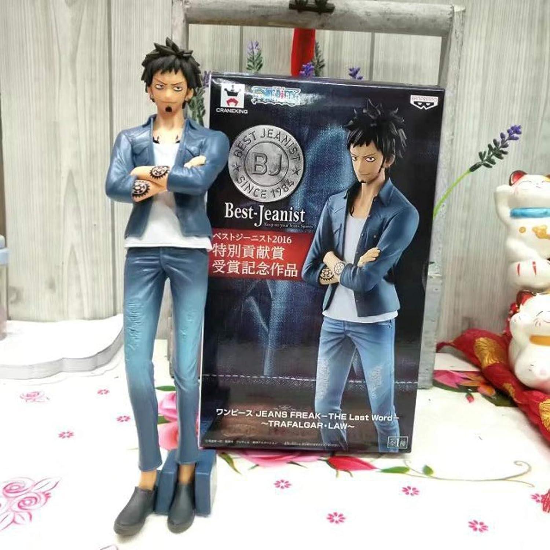 salida para la venta LICCC Estatua de Juguete Modelo de Juguete de de de una Pieza Exquisito Anime Decoración Decoración Jeans Luo 20CM  punto de venta barato