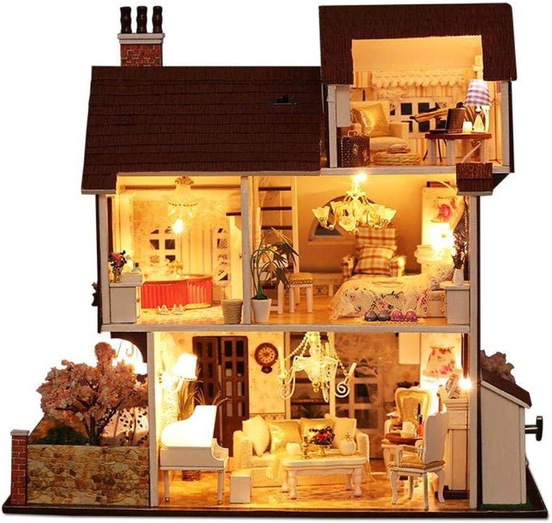 Yuanshangzhuanmai Musik Licht Blaume Haus Stadt 31  23  29,1 cm Montage Puzzle 3D puppenhaus gebäude Modell Holz Kinder Spielzeug Geschenk DIY B07QGLLLN9 Ab dem neuesten Modell | Grüne, neue Technologie