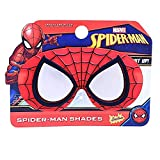 Sun-Staches Costume Sunglasses Lil' Characters Spider Man Mask Party Favors UV400, Red/Black