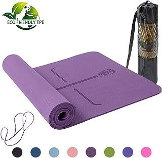 Lixada Colchonetas Yoga Antideslizante Ligero TPE Material