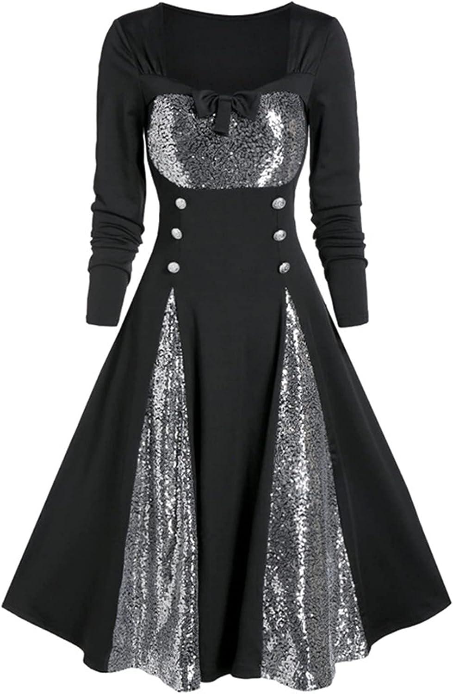 Vintage Dress for Regular dealer Women Plus High order Size Lace Long Pa Sleeveless Sleeve