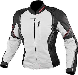 コミネ(KOMINE) バイク用 プロテクトハーフメッシュジャケット ライトグレイ/ブラック L JK-146 12955 春夏秋向け メッシュ素材 CE規格レベル2 CE規格 プロテクター