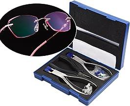 Kit de alicates para óculos Qiterr, conjunto de armação profissional para óculos sem aro, ferramenta óptica de desmontagem