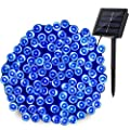 YUJINQ Solar Powered String Lights 500LED 8 Modes Starry String Lights,Christmas Fairy String Lights,Indoor/Outdoor Waterproof Solar Decoration Lights for Gardens,Home,Dancing,Party Decoration