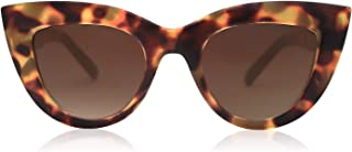 SOJOS Retro Vintage Cateye Sunglasses for Women Plastic Frame Mirrored Lens SJ2939