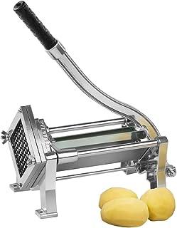 Royal Catering Coupe Pommes de Terre Frites RCKS-3 (69x17x20cm, INOX, Aluminium, Acier, Lames : 8x8, 10x10, 12x12 mm, Mont...