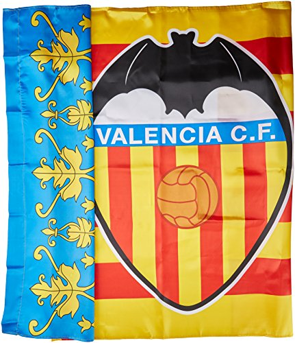 Valencia CF Badvcf Bandera, Blanco/Naranja, Talla Única