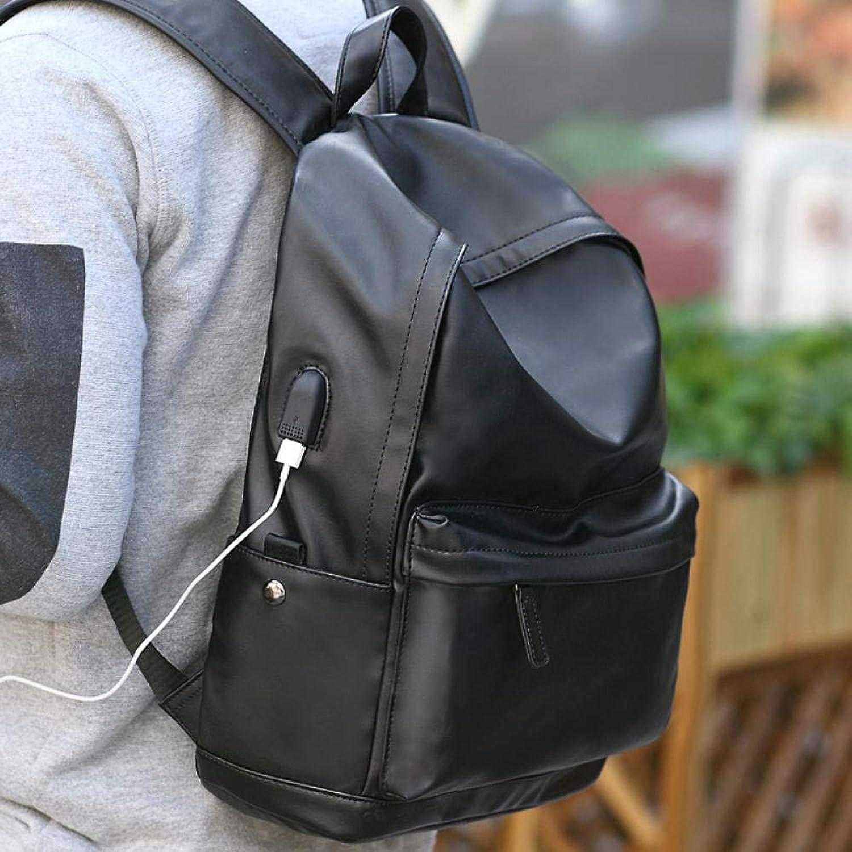 SQBB Studenten Backpack Herren Rucksack Rucksack Herren Computer Tasche Gymnasiasten Tasche Mnner und Frauen Flut Casual Fashion Reisetasche Q schwarz B34, schwarz Lade