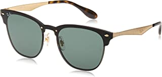 Rb3576n Blaze Clubmaster Metal Square Sunglasses