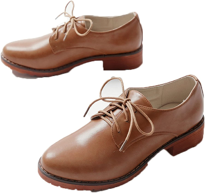 MINIVOG Treaded Blocked Heel Womens Oxford Loafers