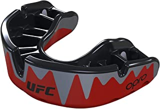 OPRO Platinum Fangz Adult UFC Mouthguard - 18 Month Extended Dental Warranty - Red Metal/Black