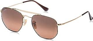 RB3648 The Marshal Square Sunglasses, Havana/Brown Gradient, 54 mm