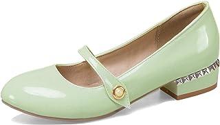 Garggi Mary Jane Femmes A Enfiler Talons Bas Closed Toe Escarpins Chaussures