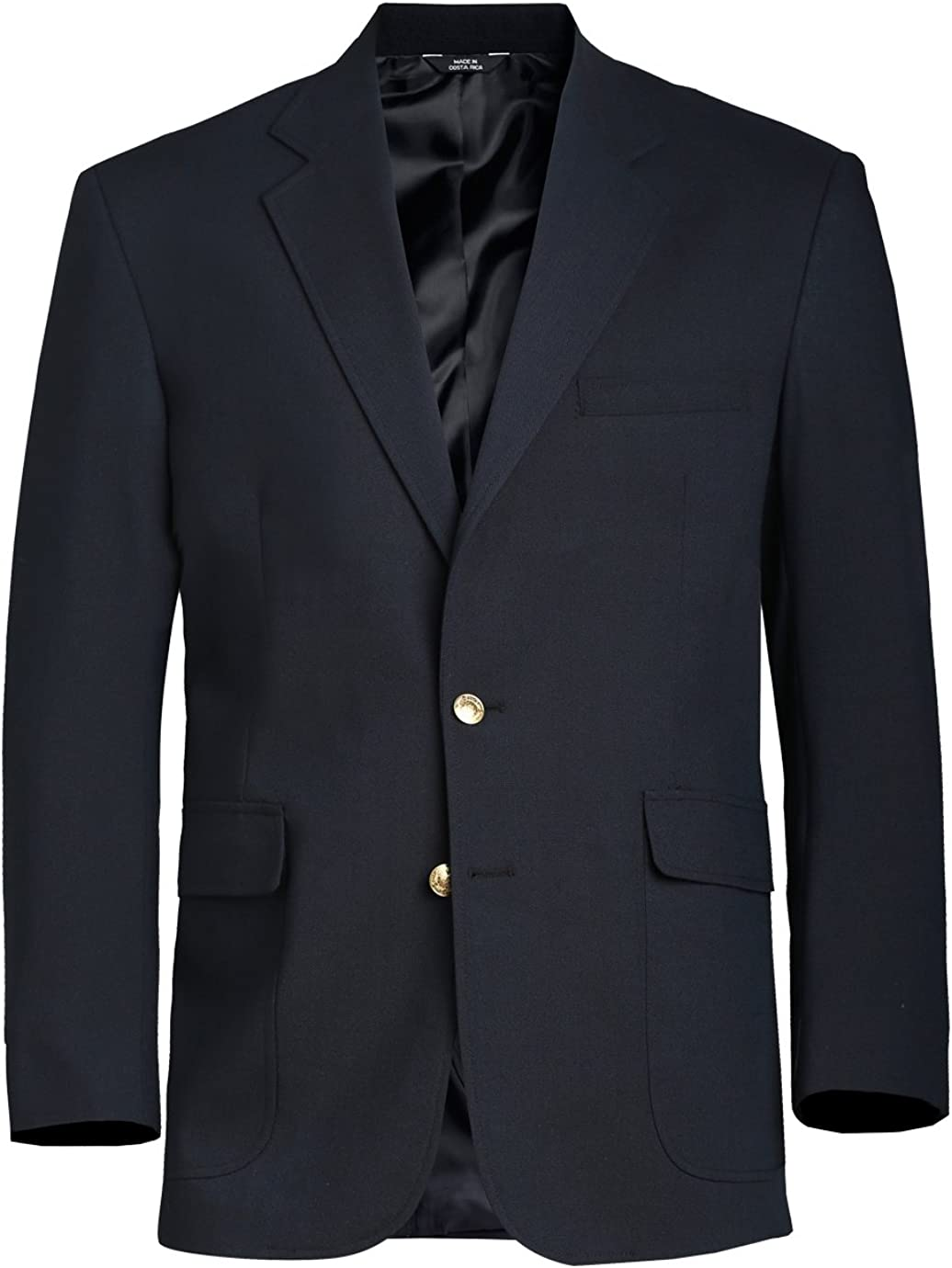 Ed Garments Men's Fully Lined Hopsack Single Breasted Blazer, NAVY, Tall