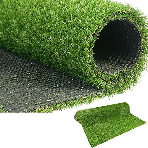 LITA Premium syntetiskt konstgräs torv 20 mm hög höjd, hög täthet falskt konstgräs gräs, naturlig och realistisk trädgård husdjur hund gräsmatta (1 m x 4 m)
