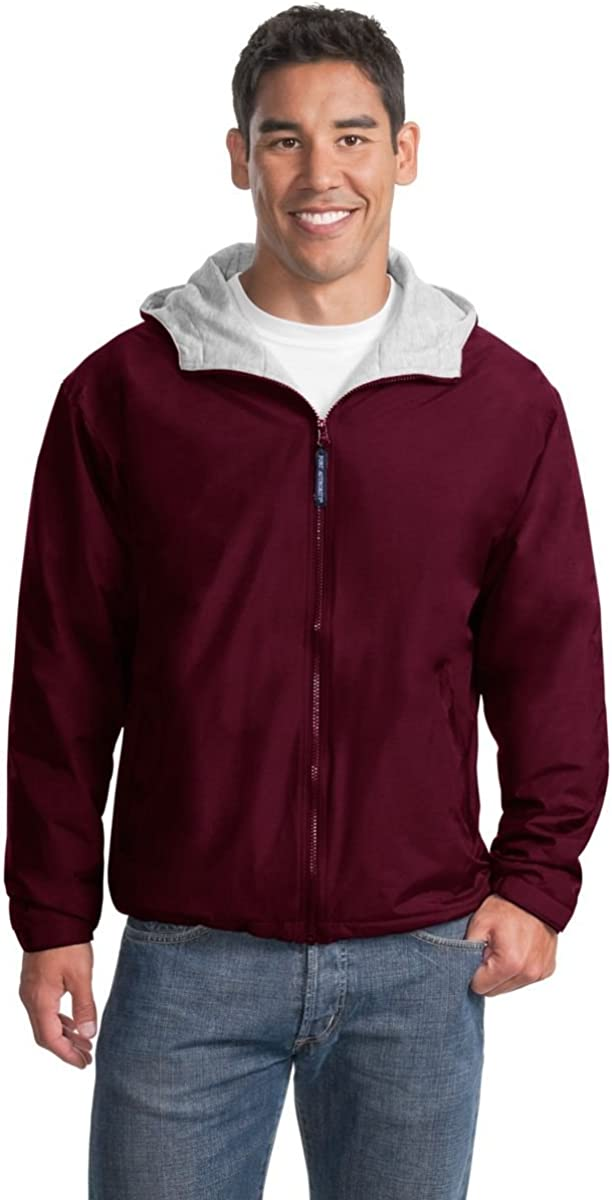 Port Authority Team Jacket, Maroon and Light Oxford, S