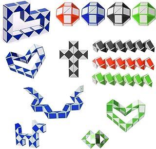 gotyou 15 Pezzi 24 Blocchi Mini Cubo di Serpente Magici,Plastica Righello Magico,Sviluppo Giocattolo dell'Intelligenza dei...