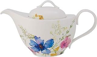 Villeroy & Boch Mariefleur Basic Tetera, 1,2 Litros, Porcelana Premium, Blanco/Colorido