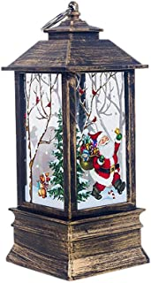 Christmas Tabletop Battery Powered LED Indian Lantern Lamp Light Decorations Xmas Desktop Ornaments Festival Party Supplies Thanksgiving Day Birthday Present to Kids Holiday Home Décor