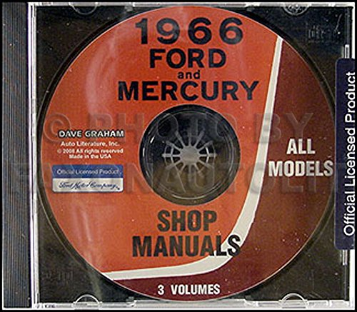 1966 Ford CD-ROM Repair Shop Manual for Cars, Vans, and Econoline