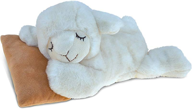 Puzzled Sleeping Sheep With Pillow Super Soft Stuffed Plush Cuddly Animal Toy Animal Theme 10 INCH Unique Huggable Loveable New Friend Gift Item 5383