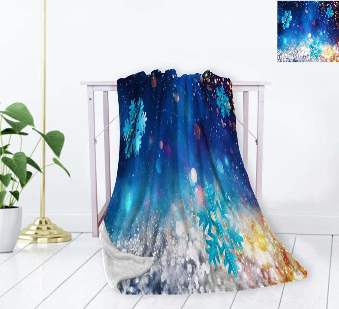 Max 66% OFF Snowflake Soft Small Manufacturer direct delivery Throw Blanket Spark Christmas Pattern with