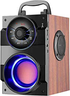 Bluetooth Speakers,Portable Bluetooth Speaker with Stereo Sound and Rich Bass,Wireless Speaker with Party Lights and Bluet...