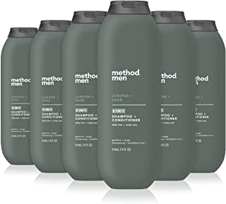 Method Men 2-in-1 Shampoo + Conditioner, Juniper + Sage, Pack Of 6, Juniper & Sage, 6 Count
