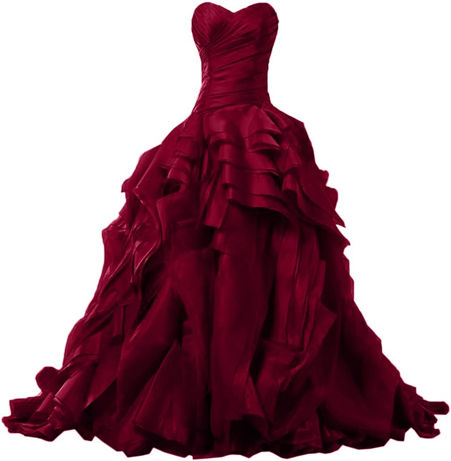 Bonnie clothing Women's Ball Gown Sweetheart Neck Formal Prom Dress