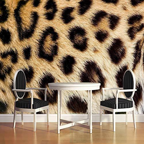 Fototapete Schlafzimmer, 3D Große Tapete Foto Seidenartiges Wandbild Moderne Abstrakte Leopard Gedruckte Wandkunstrolle Poster Dekor Für Wohnzimmer Hinter Fernseher Schlafzimmer Küche Büro,140 C