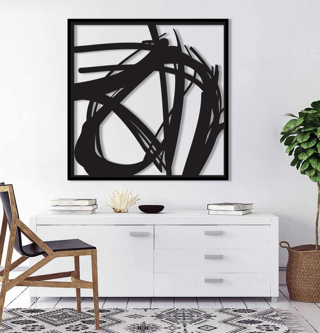 Hisseki Abstract Metal Brand new Wall Art Room Regular store Office Living Décor Home