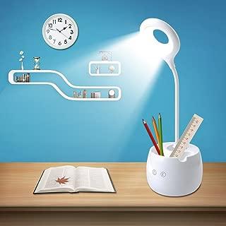 2in1調整可能なタッチLEDデスクテーブルランプ多機能ナイトライトペンホルダー屋内子供USB充電