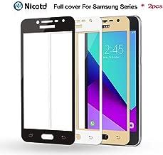 2 Pcs Color Full Cover Tempered Glass for Samsung Galaxy C5 C7 C5000 C7000 J5 J7 Prime S6 S7 A3 A5 A7 2017 Screen Protector-in Phone Screen Protectors,Golden,Galaxy C5 C5000 WTGJZN