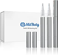 MitButy Teeth Whitening Pen (3 Pack) with Safe 30% Carbamide Peroxide Gel- Effective, No Sensitivity, Painless, Travel-Friendly, Professional Whitening Treatments Gel Pens for Beautiful White Smile