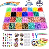 Yehtta Gifts for 5-10 Year Old Girls Rainbow Rubber Bands Loom Kit Kids Art Crafts DIY Toys Bracelet...
