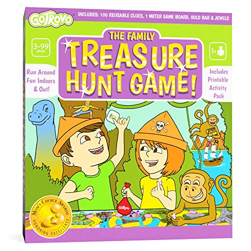 Gotrovo Treasure Hunt Game Fun Scavenger Hunt Board Game for Kids Indoors and Outdoor